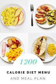 1200 calorie diet menu and meal plan diet pinterest 1200
