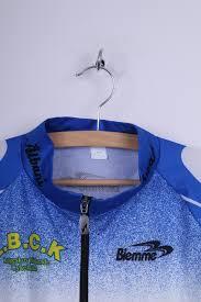 cycling jacket blue biemme mens xl bike jacket blue zip up lightweight cycling top