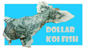 Origami Koi Fish Dollar Bill - dollar koi fish origami tutorial won park
