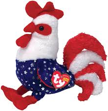 amazon com ty beanie babies homeland rooster toys u0026 games