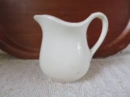 White Ceramic Pitcher Vase Vintage Cream Pitcher Pottery 12 Oz Size Classic American