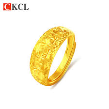 gold color rings images Hot sale top quality adjustable 24k gold color rings for lovers jpg