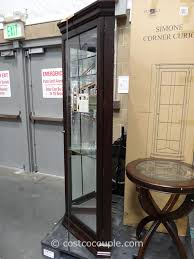 pulaski curio cabinet costco pulaski furniture simone corner curio cabinet