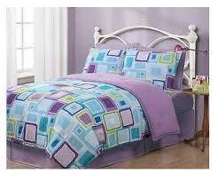 Bed Comforter Sets For Teenage Girls by Twin Bed Set Geo Aqua Square Reversible Comforter Set Teen Girls