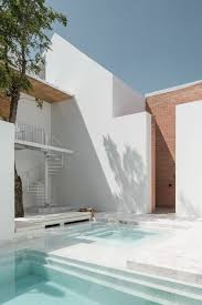 walled patio and pool gaspar house by alberto campo baeza court