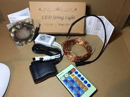 Starry String Lights On Copper Wire by Vitovill Indoor Outdoor 6 V Power Supply Starry String Lights