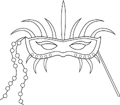 black and white mardi gras masks mardi gras mask coloring page free clip