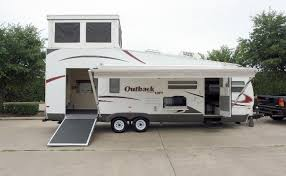Travel Trailers With King Bed Slide Out Outback Loft For Sale Rlb Auto Group 2009 Keystone Outback 27l