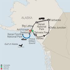 Gulf Of Alaska Map by Spectacular Alaska Tour Package Globus