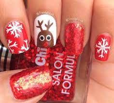 18 christmas reindeer nail art designs u0026 ideas 2016 xmas nails