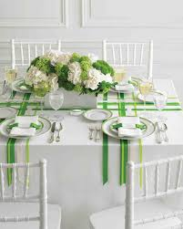 table decorations for wedding wedding colors green and white martha stewart weddings