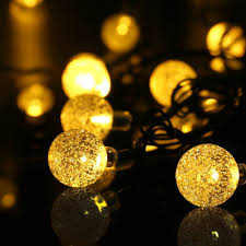 Solar Powered Outdoor Fairy Lights by 20ft 30 Led Crystal Ball Solar Powered Ledertek Brand Most Popular