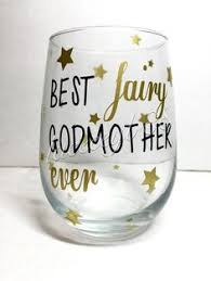 godmother wine glass personalized fairy godmother wine glass my stuff