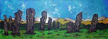 painting prints of the callanish standing stones the isle of lewis scottish outer