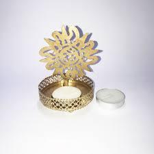 shadow om metal tea light holder gift ka shop