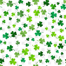 st patrick u0027s day clover seamless pattern vector image 108456