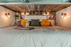 2 Bedroom Tiny House by Tricked Out Tiny Home Features Garage Door And Custom Deck Curbed