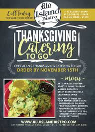 chef alan s thanksgiving catering to go november 2016