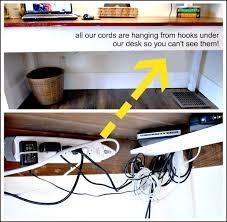 Wire Computer Desk Best 25 Hiding Computer Cords Ideas On Pinterest Hiding Wires