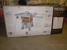 Ridgid Table Saw Review Ridgid R4512 Table Saw Purchase U0026 Assembly Review By Rayman24