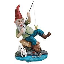 Garden Nome by Gone Fishing Garden Gnome Statue Eu90673 Design Toscano