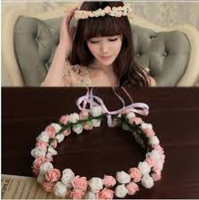 flower decoration for hair aliexpress buy koren style new hairband ribbon flower wreath