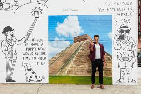 delta painted exotic locales on a brooklyn wall for singles to