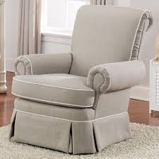 Swivel Club Chair Upholstered Best Chairs Victoria Upholstered Swivel Glider Taupe Linen