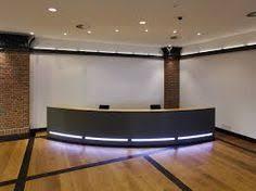 Rem Suflo Reception Desk Hi Line Orange White Corner Reception Desk Reception Area