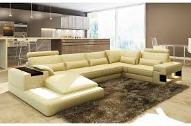 canape d angle 7 places canapé d angle en cuir italien 7 places best écru mobilier privé