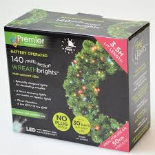 battery operated wreath premier 50cm battery operated lights for wreath 140 multi coloured