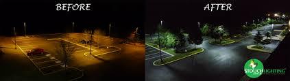 led parking lot lights vs metal halide led lighting education and information outdoor lighting