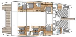 Catamaran Floor Plans Muse Crewed Catamaran Charter Caribbean