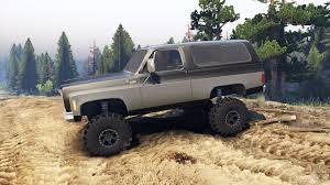 K5 Chevy Blazer Mud Truck - k5 blazer 1975 black and silver for spin tires