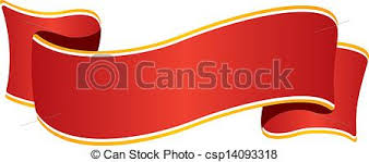 wide ribbon isolated wide ribbon with golden border on white vector
