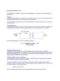 percentage impedance transformer electrical impedance