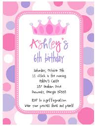princess birthday invitation templates free printable invitation