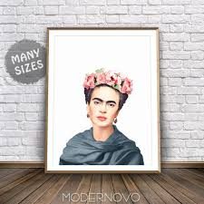 frida kahlo poster frida art deco boho prints mexican art
