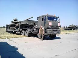truck drivers from rublevka russian division transported tanks