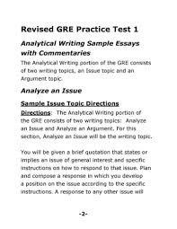 Toefl Writing Sample Essay Sample Gre Essay Good Ideas For Cause And Effect Essay
