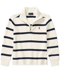 Sweater Toddler Ralph Striped Half Zip Sweater Toddler Boys Sweaters