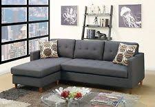 Reversible Sectional Sofa Chaise Modern 2pc Dark Grey Reversible Sectional Sofa Chaise With Accent