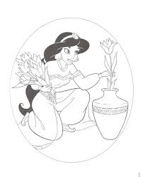 princess jasmine coloring pages coloringsuite com