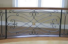 Fer Forge Stairs Design Wrought Iron Railing With Bars Indoor For Stairs Tradition