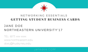 student business card networking essentials what you need to about student