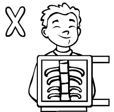 x ray coloring sheet teach may pinterest alphabet letters