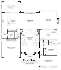 Spanish Colonial Floor Plans Toll Brothers At Robertson Ranch The Bluffs Quick Delivery Home