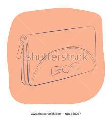 elegant womens wallet clutch bow fashion stock vector 601993313
