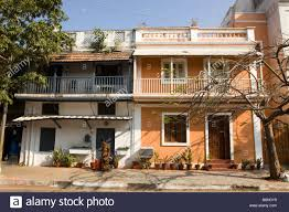 colonial houses india pondicherry rue bazar saint laurent attractive old french