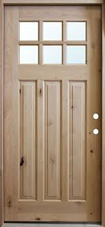 Prehung Exterior Door Discount Craftsman Knotty Alder Prehung Wood Door Unit Uk43